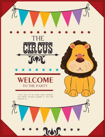 cirque: Card design Circo, illustrazione vettoriale