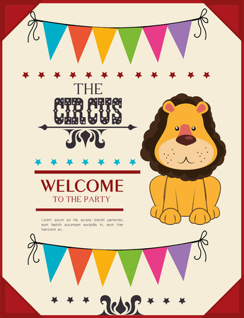 Circus card design, vector illustration Vector