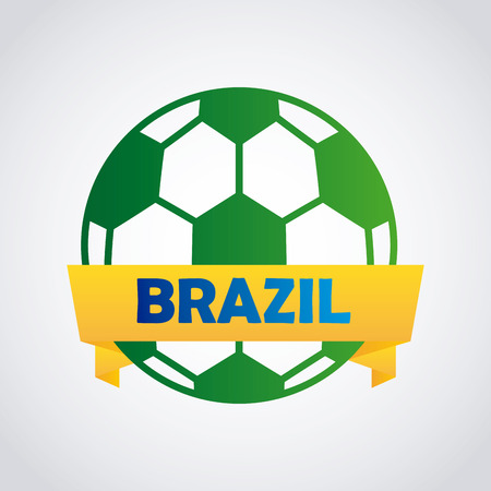 Brazil design over gray background Vector