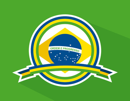 Brazil design over green background Vector