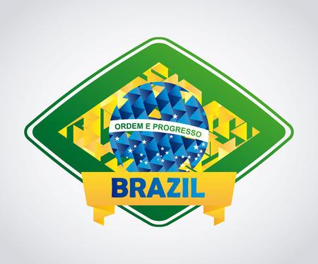 Brazil design over white background