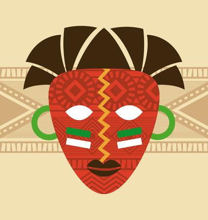Africa design over beige background