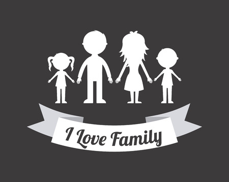 Family design over gray background, vector illustration Vector