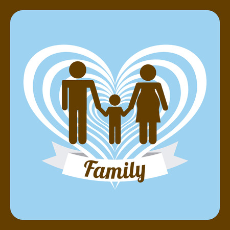Family design over brown  background Vector