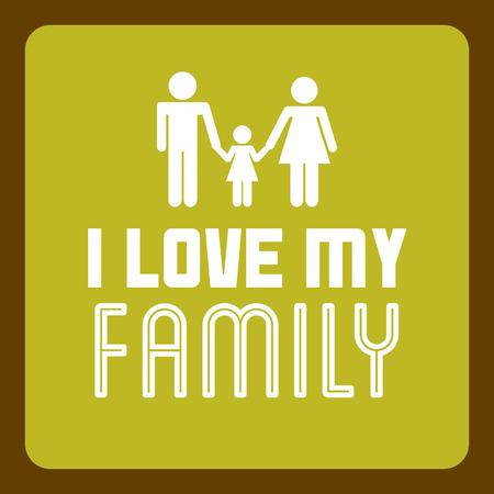 hapiness: Family design over green background Illustration