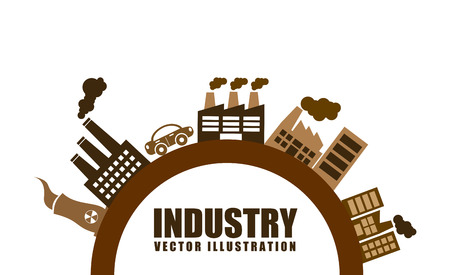 industry design over white background