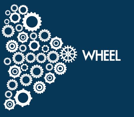 gearshift: Wheel design over blue background