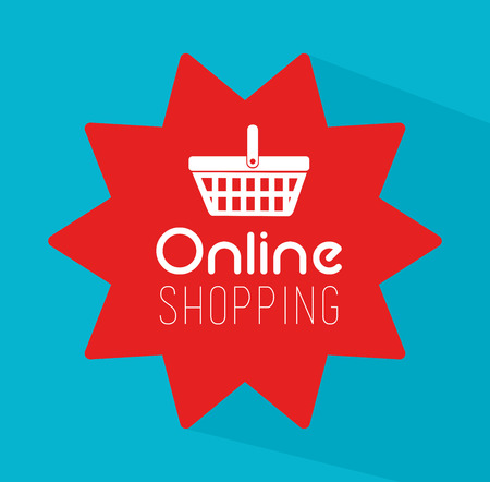 Shopping design over blue background