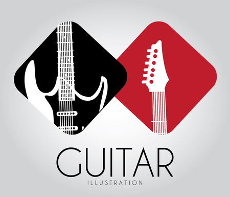 Music design over gray background Vector