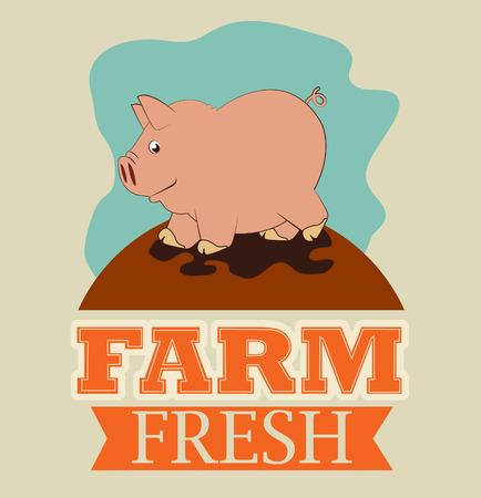 Farm design over beige background Vector