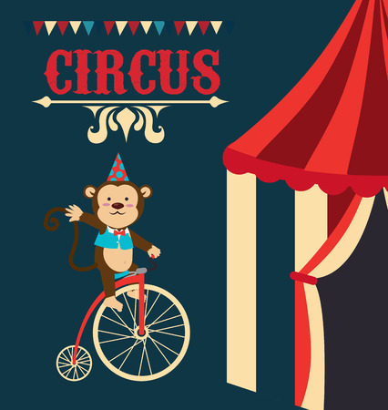 Circus design over blue background Vector