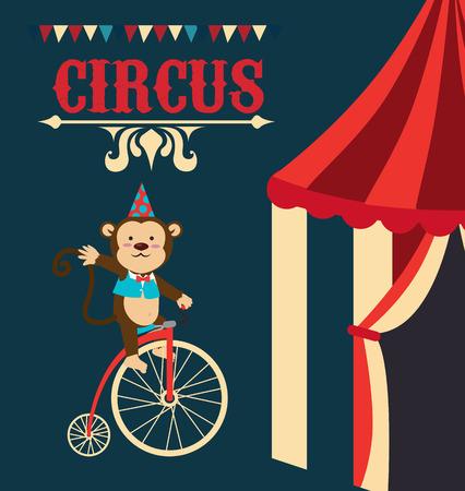 Circus design over blue background