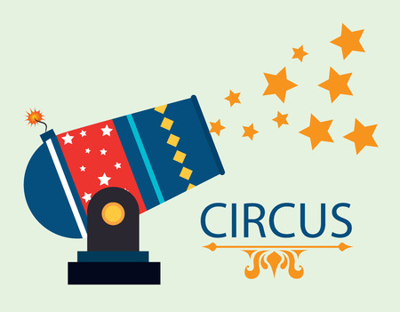 cartoon circus: Circus design over green background Illustration