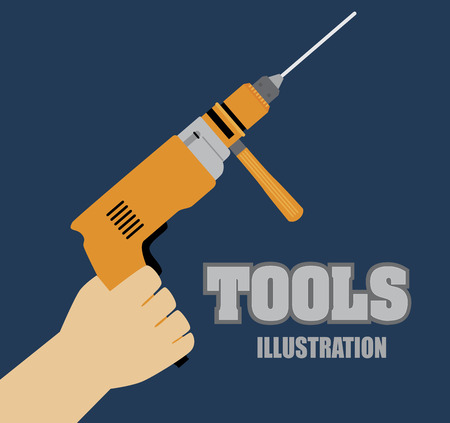 Tools design over blue background, vector illustration Vector