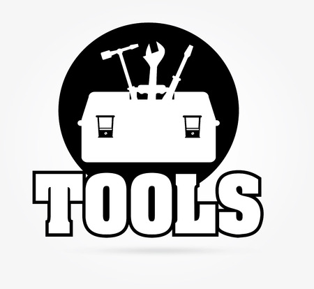 Tools design over white background Vector