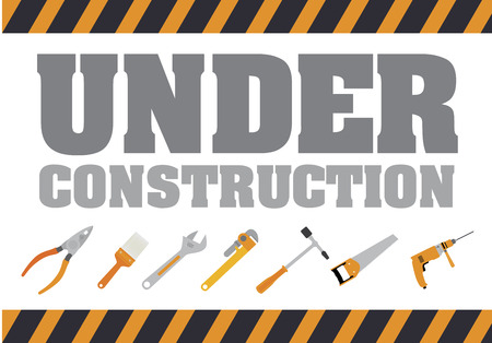 recondition: Under construction design over gray background
