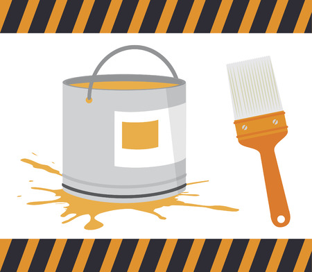 redecorate: Paint design over white background