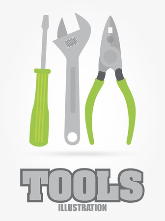 Tools design over gray background Vector