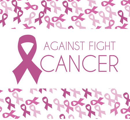 ure: Cancer campaign design over pattern background Illustration