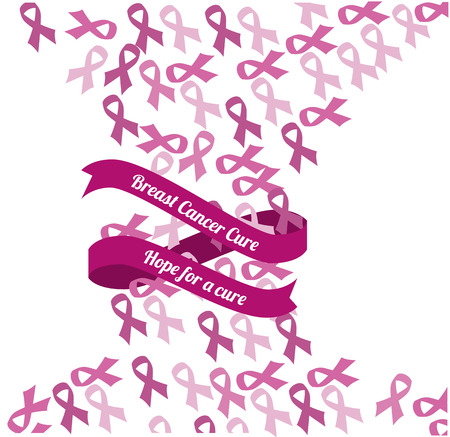 Cancer campaign design over white background Vector