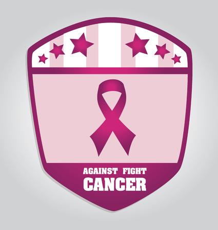 Cancer campaign design over gray background, vector illustration Illustration