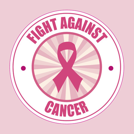 Cancer campaign design over pink background Illustration