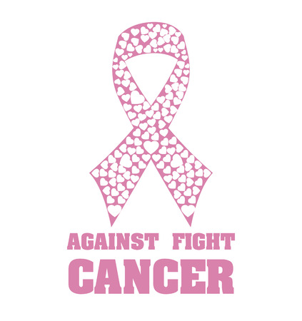 Cancer campaign design over white background