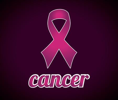 Cancer campaign design over  purple background