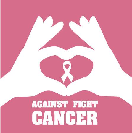 ure: Cancer campaign design over pink background Illustration