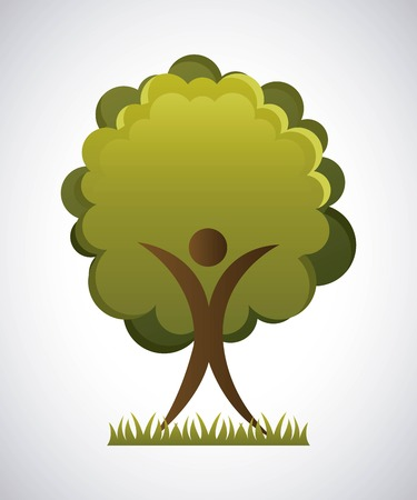 enviromental: Ecology design over gray background, vector illustration