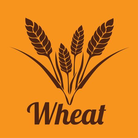 seeding: Food design over orange background, vector illustration