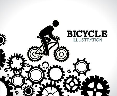 Bike design over gray background,vector illustration Vector
