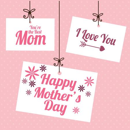 mothers: Mothers day design over pink background, vector illustration Illustration