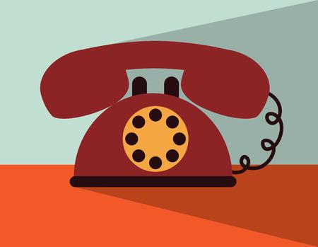 cable telefono: Dise�o de tel�fono sobre el fondo, ilustraci�n vectorial