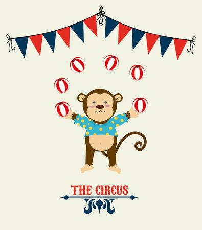 cirque: Circus design over beige background, vector illustration