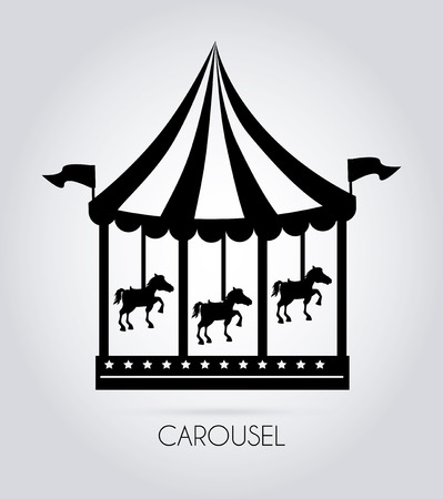 Circus design over gray background, vector illustration Vector