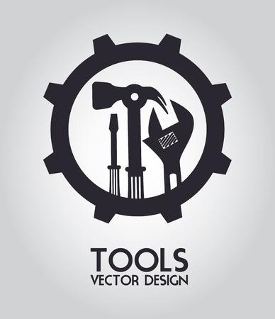 home maintenance: Tools design over gray background, vector illustration Illustration