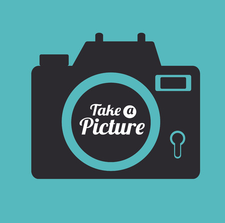 Photography design over blue background, vector illustration 向量圖像