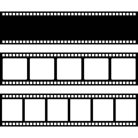 흰색 배경 위에 필름 디자인, 벡터 일러스트 레이 션 일러스트