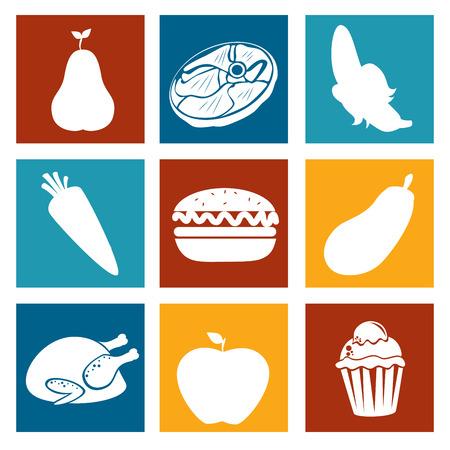 chiken: Food design over white background, vector illustration Illustration