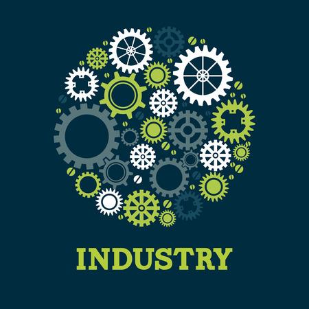 gearshift: Gears design over blue background, vector illustration