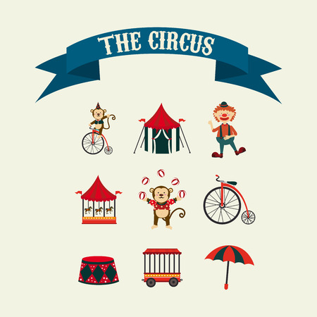 Circus design over beige background, vector illustration Vector