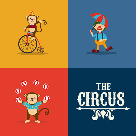 Circus design over colorful background, vector illustration Vector