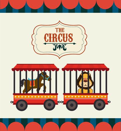 Circus design over beige background, vector illustration
