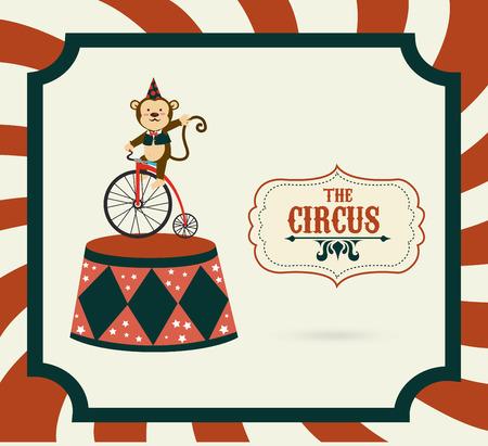 cirque: Circus design over stripes background, vector illustration Illustration