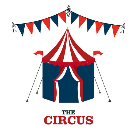 Circus design over white background, vector illustration Vector