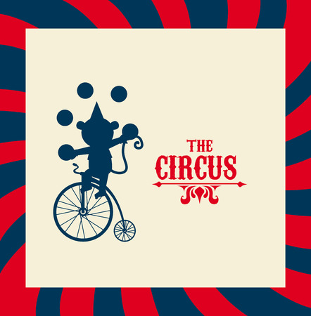 Circus design over stripes background, vector illustration Vector