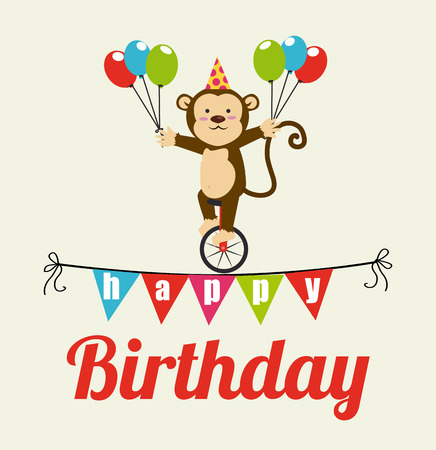 Happy birthday design over beige background,vector illustration Vector