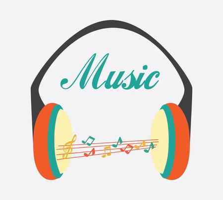 pentagramma musicale: Disegno di musica su sfondo bianco, illustrazione vettoriale Vettoriali