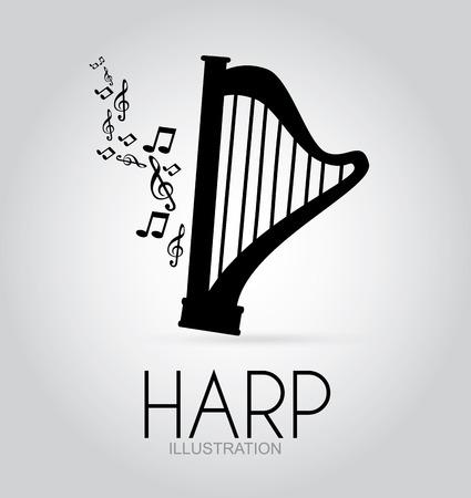 Music design over gray background,vector illustration